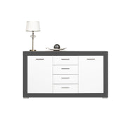 Gray Sideboard in White Matt and Grey Colour