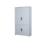 Jasper wardrobe 2-door with cupboard on the bottom in light grey colour