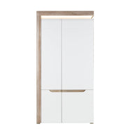 Irma White & Oak 2 Doors Wardrobe
