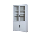 Jasper living room display cabinet in light grey colour