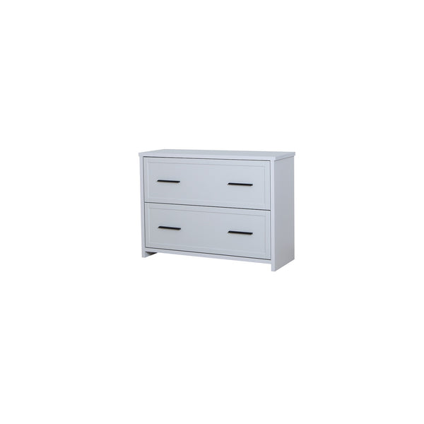 Jasper 2-drawer chest of drawers in light grey colour