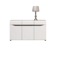 Lionel Sideboard in Truffle Sonoma Oak and White Gloss Colour