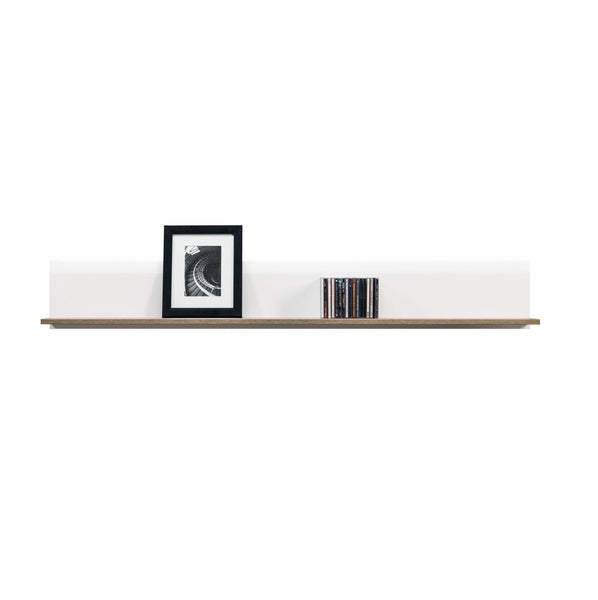 Lionel Shelf in Truffle Sonoma Oak and White Gloss Colour