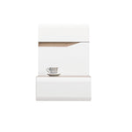 Lionel Hanging Bedside Table in Truffle Sonoma Oak and White Gloss Colour (Left)