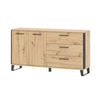 Loft sideboard in artisan oak colour with black details