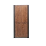 Naomi 2-Door Wardrobe in Walnut and Wenge Colour