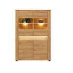 Sandy Display Cabinet With LED lights in Grandson Oak Colour