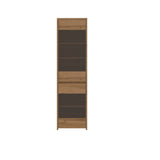 Tahoe Glass Door Display Unit in Wotan Oak with LED's lights