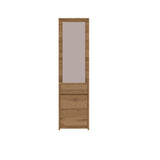 Tahoe Hallway Mirror with a Cupboard in Wotan Oak