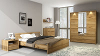 Tahoe 3 Door Wardrobe with Mirror in Wotan Oak