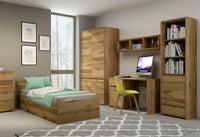 Tahoe Single Bed Frame in Wotan Oak
