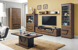 Tes 2-Door Wardrobe in Walnut Colour