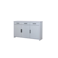 Jasper 3-door sideboard with drawers in light grey colour