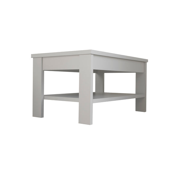 Jasper coffee table with shelf in light grey colour