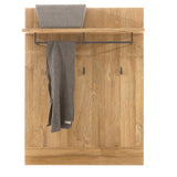 York Oak & Graphite Wall Mounted Hallway Hanger
