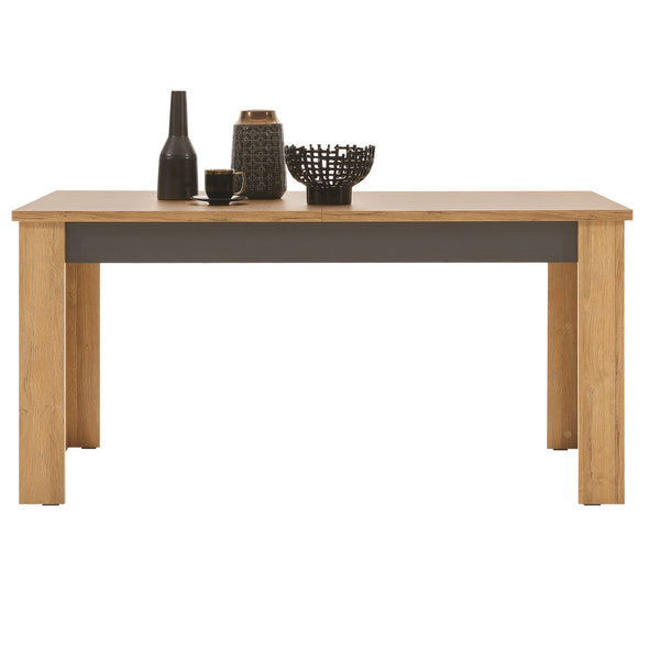 York Oak & Graphite Extendable Dining Table