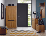 York Oak & Graphite Two-Door Wardrobe
