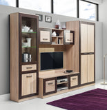 Boss TV Unit Extension in Light Oak and Chocolate Oak Colour