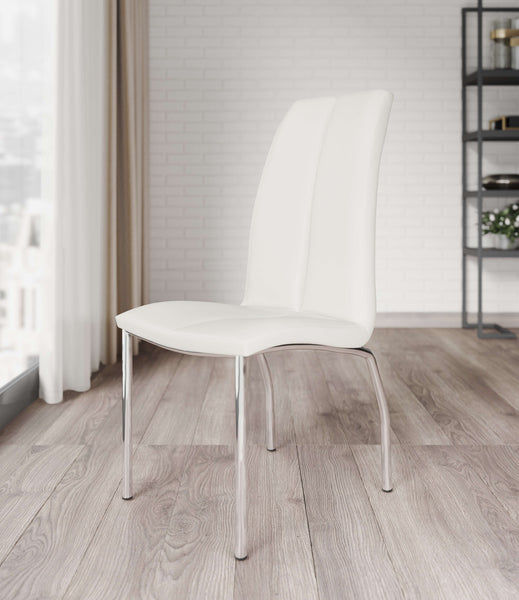 Boston White Upholstered Dining Chair