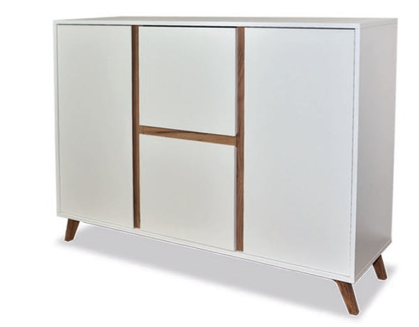 Trend sideboard in white and gold oak colour