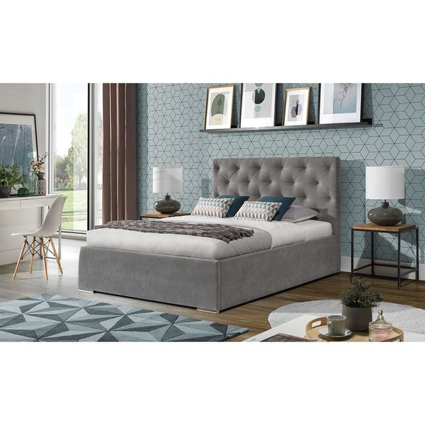 Kaja Upholstered King Size Bed Frame