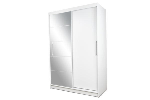 Epic sliding doors wardrobe with mirror in white colour