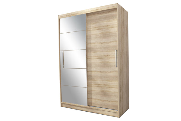 Epic Sliding Doors Wardrobe With Mirror In Sonoma Oak