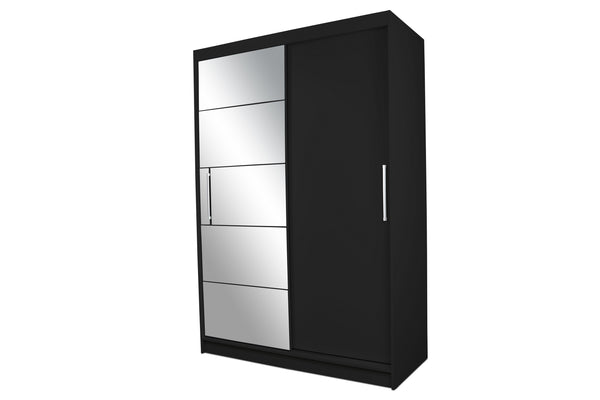 Epic sliding doors wardrobe with mirror in black matt colour