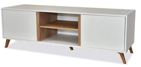 Trend tv unit in white and gold oak colour