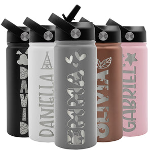 Kids Water Bottle Gray