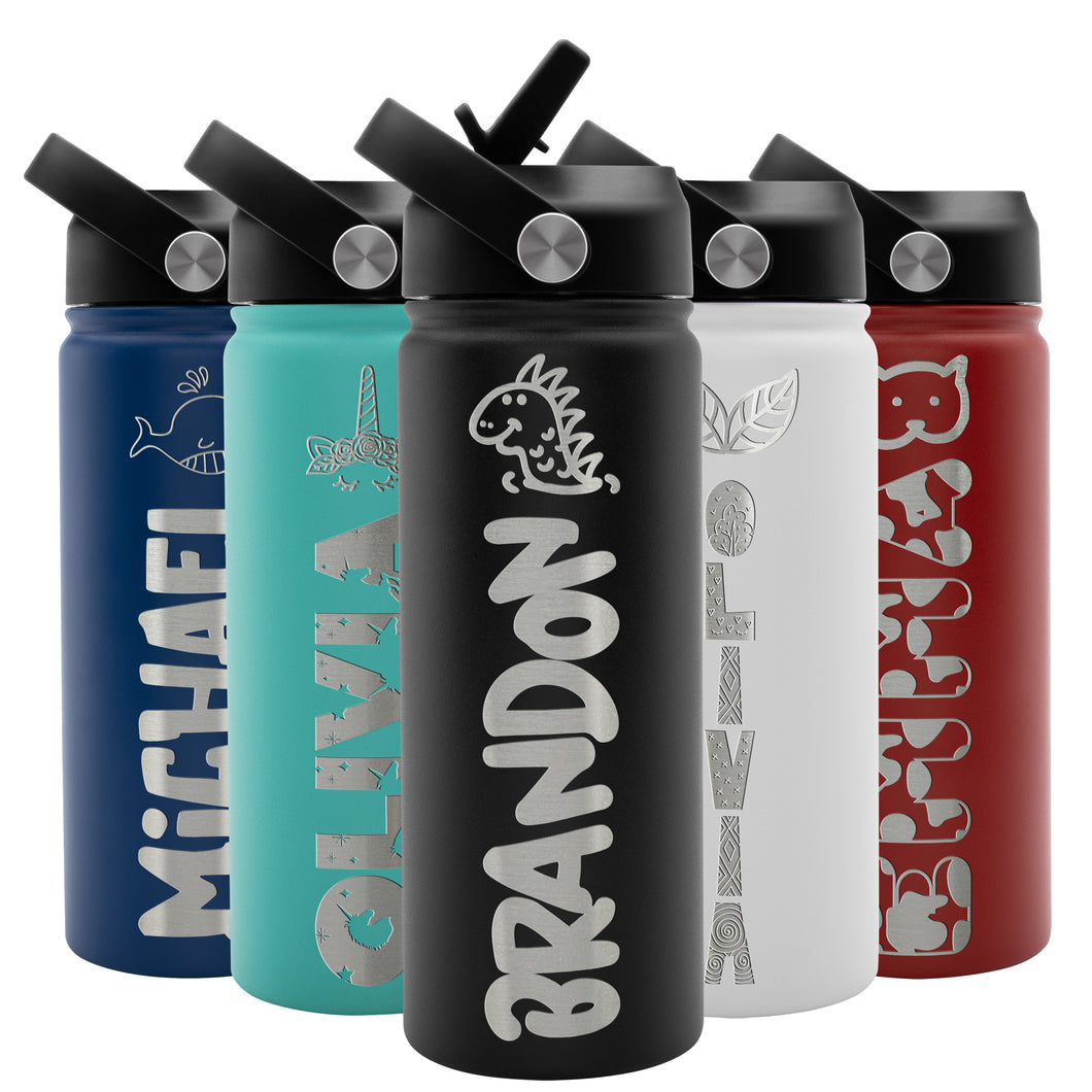 Kids Water Bottle Black