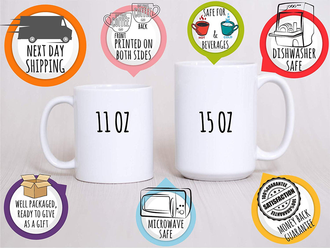 Initial Coffee Mug  Design 1  Set of 6
