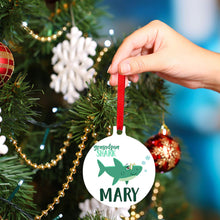 Load image into Gallery viewer, Christmas Ornaments Boy Shark