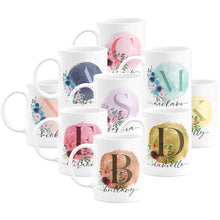 Load image into Gallery viewer, Initial Coffee Mug  Design 1 Set of 9