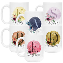 Load image into Gallery viewer, Initial Coffee Mug  Design 1  Set of 6