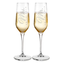 Load image into Gallery viewer, Champagne Flutes For Wedding Laser engraved  Design 2