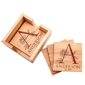 Wood Coaster D10 Set of 4