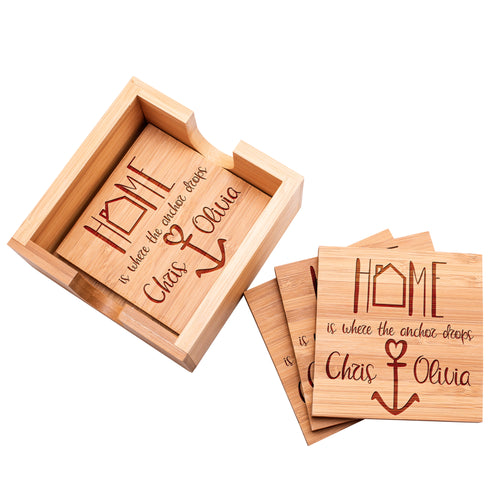 Wood Coaster D11 Set of 4