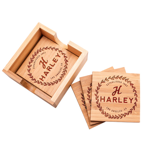 Wood Coaster D12 Set of 4