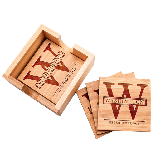 Wood Coaster D14  Set of 4