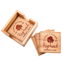 Load image into Gallery viewer, Wood Coaster  D4 Set of 4