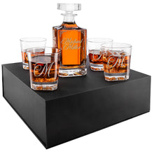 Load image into Gallery viewer, Whiskey Decanter and 4 Glasses  Set Design 5