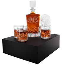 Load image into Gallery viewer, Whiskey Decanter and 4 Glasses  Set Design 7
