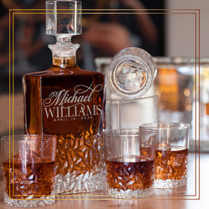 Whiskey Decanter and 4 Glasses  Set Design 7