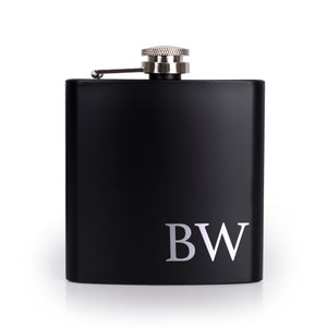 Personalized Black Flask  - Design 10