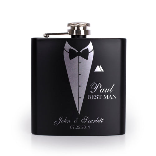 Personalized Black Flask - Design 4