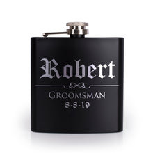 Load image into Gallery viewer, Personalized Black Flask - Design 5
