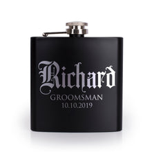 Load image into Gallery viewer, Personalized Black Flask - Design 8