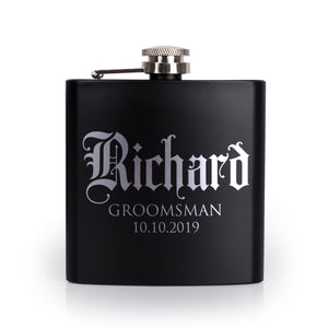 Personalized Black Flask - Design 8
