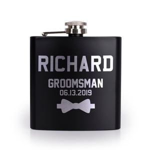 Personalized Black Flask - Design 9